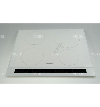 Dessus table induction blanche 4 zones de dietrich - Plaque induction blanche ...