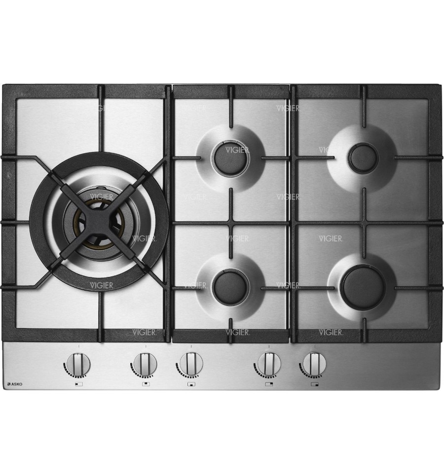 Plaque cuisson gaz asko hg1774sb for Table gaz 6 feux