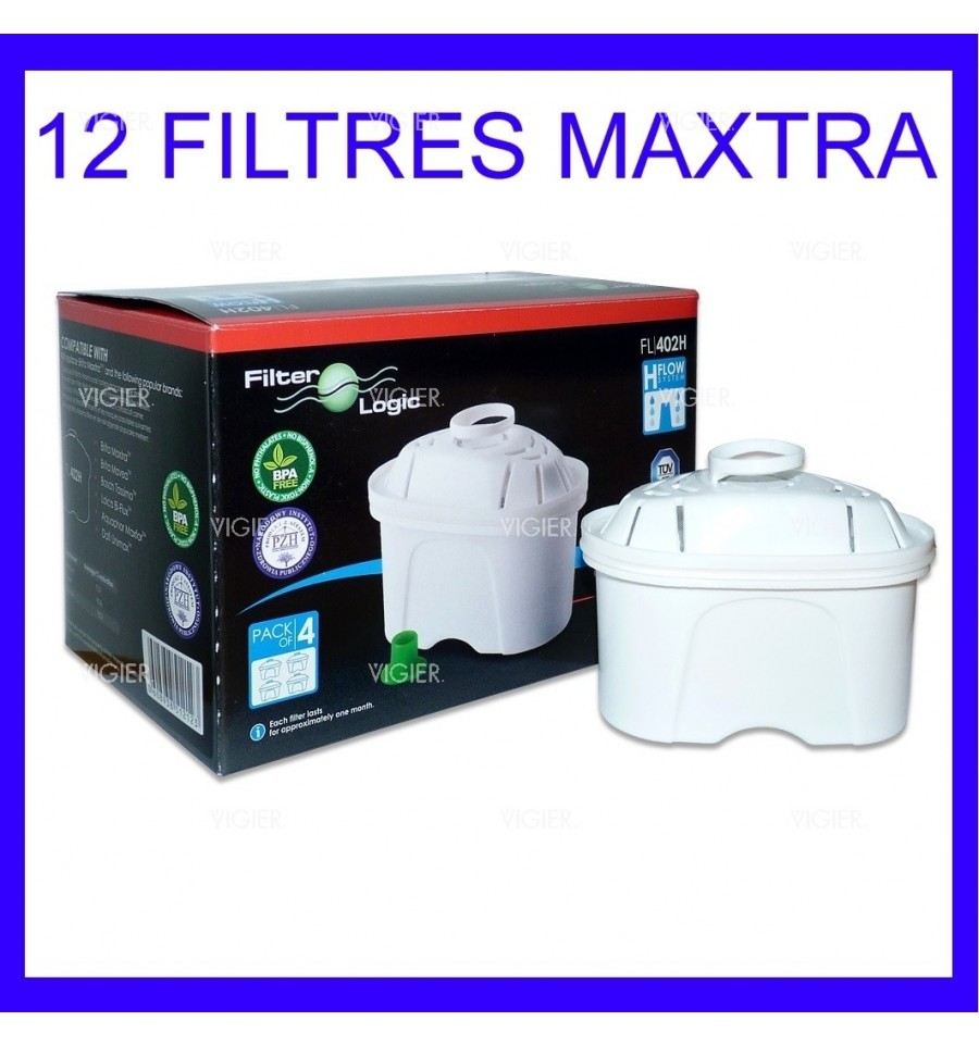 pack de 12 cartouches filtrantes brita maxtra pour carafe vigier electrom nager. Black Bedroom Furniture Sets. Home Design Ideas