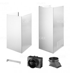 KIT CHEMINEE WHIRLPOOL POUR HOTTE DECORATIVE MURALE INOX