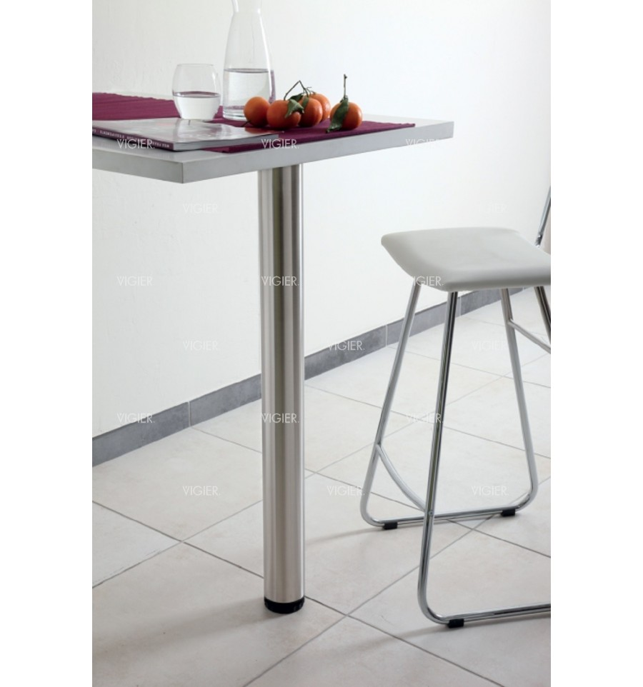 pied de table 100 inox brosse diametre 60mm hauteur 710mm. Black Bedroom Furniture Sets. Home Design Ideas